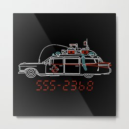 Who You Gonna Call? Metal Print