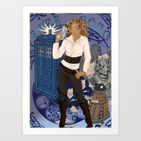 river song Art Prints featuring River Song by Saintash