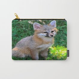 Little Grey Fox Carry-All Pouch