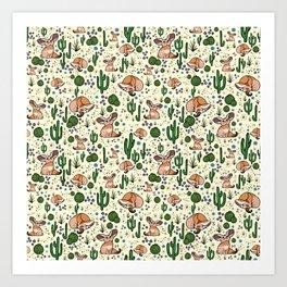 Fennec Foxes Art Print
