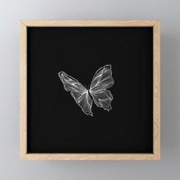 White Butterfly Framed Mini Art Print