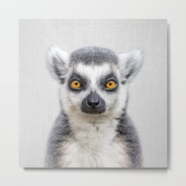 Lemur 2 - Colorful Metal Print