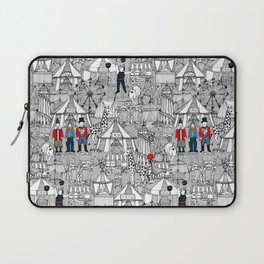 retro circus bw col Laptop Sleeve