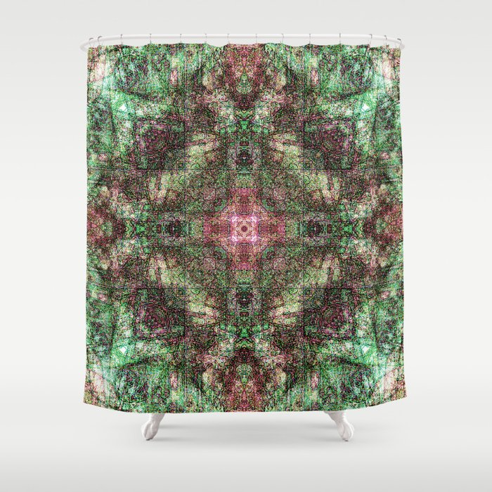 Sandala Plum & Teal Shower Curtain