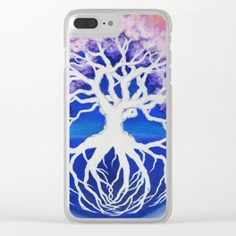 Tree of Life in Blue Clear iPhone Case