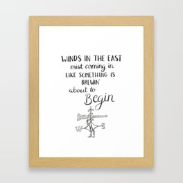 Winds in the East Framed Art Print