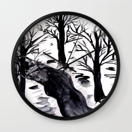 Black Crystall Frost Wall Clock