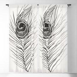 Peacock Feather – Black Palette Blackout Curtain