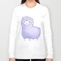 alpaca Long Sleeve T-shirts featuring Alpaca by Nurt
