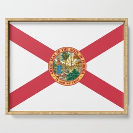 Florida State Flag Serving Tray