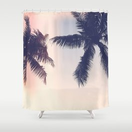 Palm trees Pastel Shower Curtain