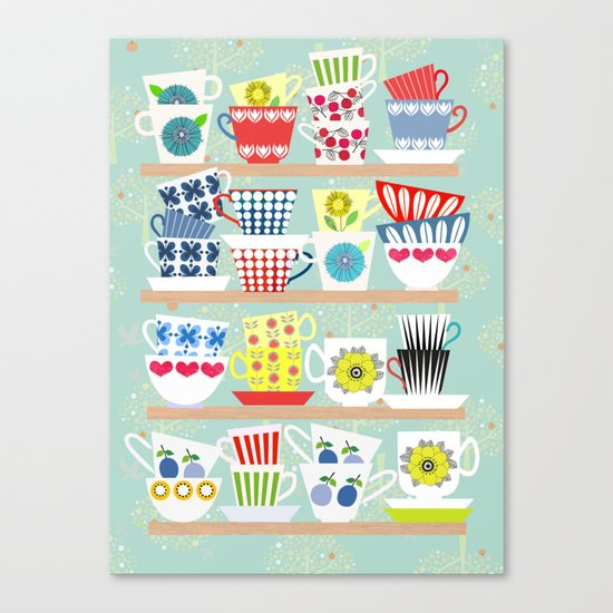 Scadinavian Cups Collection Canvas Print