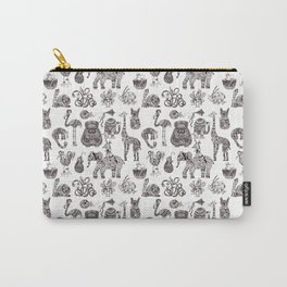 Fancy animals in black and white Carry-All Pouch