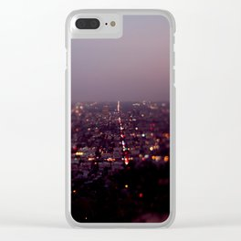 Angel City Lights, L.A. at Night (No. 2) Clear iPhone Case