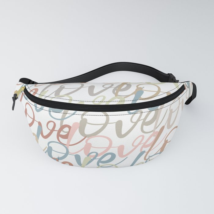 Love, Quote, Happy, Pattern Fanny Pack