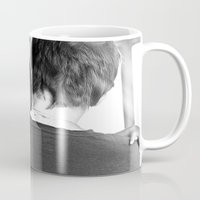 hug Mugs featuring Hug by Dave Houldershaw