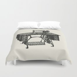 Singer sewing machine Duvet Cover