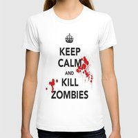 zombies T-shirts featuring ZOMBIES by Tania Joy