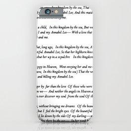 Annabel Lee Edgar Allan Poe Classic Poem iPhone Case