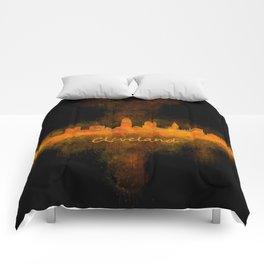 Cleveland City Skyline Hq V4 Comforters