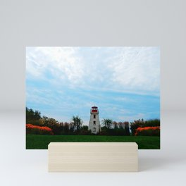 Garden and Lighthouse at the bottle houses Mini Art Print