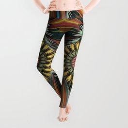 Peeping in, artistic floral design Leggings