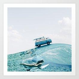 Let's go surfing Art Print