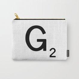 Letter F - Custom Scrabble Tile Letter Art - Scrabble F Carry-All Pouch