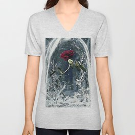 Beauty and the Beast Rose Unisex V-Neck