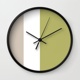 Modern Minimal Colorblock Linden Green Wall Clock