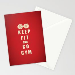 Keep Fit and Go GYM Quote Stationery Cards