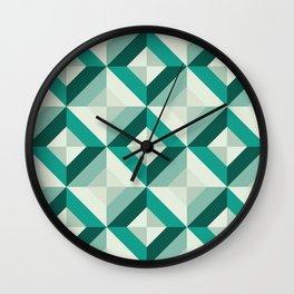 Emerald (Geometric pattern series) Wall Clock