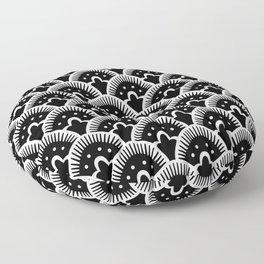 Fan Pattern Black & White 201 Floor Pillow