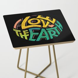 Earthen Words to Live by Side Table