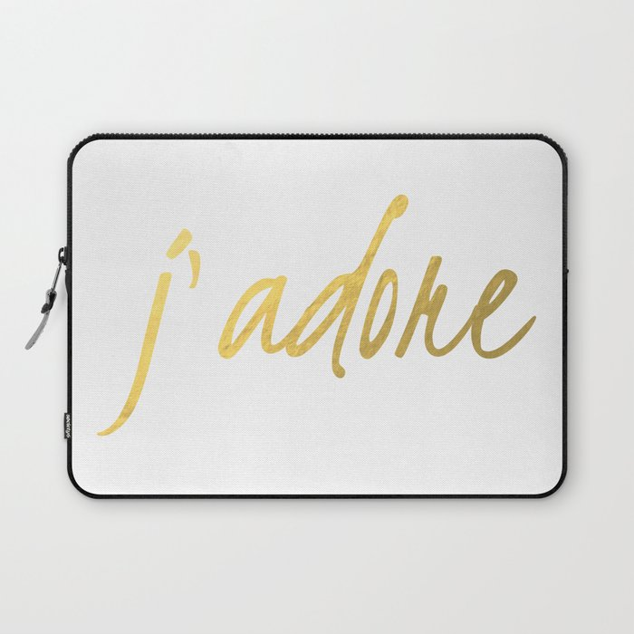 J'adore in Gold Laptop Sleeve