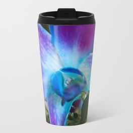 Purple and Blue Dendrobium Orchid Travel Mug