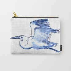 Heron in Indigo Carry-All Pouch