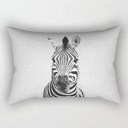 Zebra - Black & White Rectangular Pillow