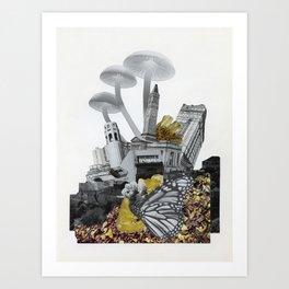 Mushroom City #1 Art Print