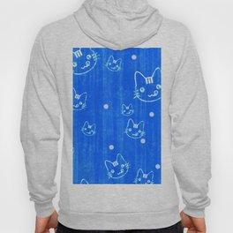 Blue Cat Pattern Hoody