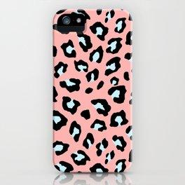 Leopard Print - Icy Peach iPhone Case
