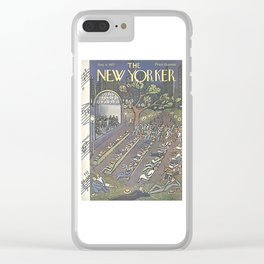 Vintage New Yorker Cover - Circa 1927-2 Clear iPhone Case