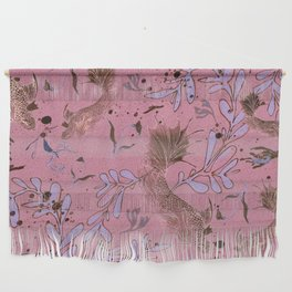 Pink fish pond Wall Hanging
