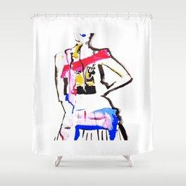 DANCE1 Shower Curtain