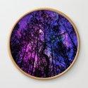 Black Trees Purple Fuchsia Blue space by vintageby2sweet