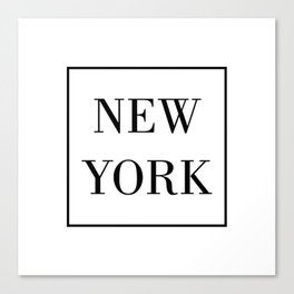 """ Travel Collection "" - Minimal New York Typography Canvas Print"