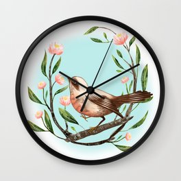 Spring Is Forever In My Heart Wall Clock
