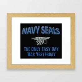 Navy Seals Framed Art Print