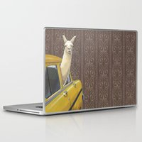 morning Laptop & iPad Skins featuring Taxi Llama by Jason Ratliff