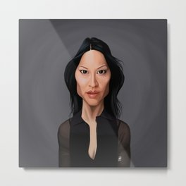 Celebrity Sunday - Lucy Liu Metal Print